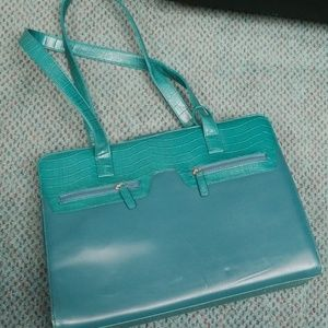 Handbags - Gorgeous green brief case(could have many uses)
